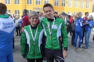 klubbens medaljetagere i årets sprint-Tue og Lis